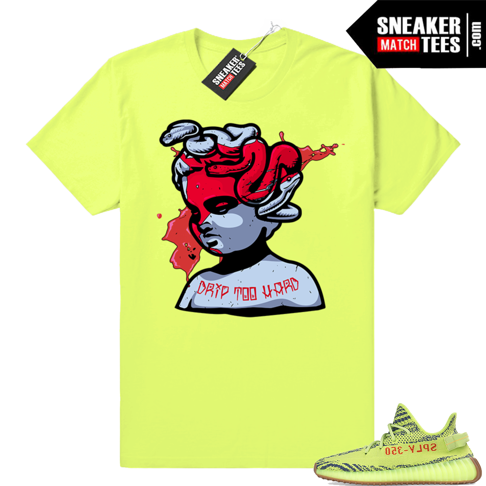 Frozen Yellow Yeezy Boost 350 shirts