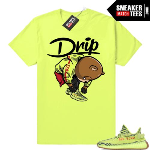 Frozen yellow Yeezy Drip t-shirt