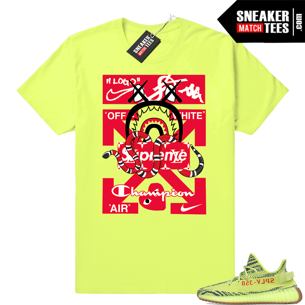 Frozen yellow yeezy boost shirts