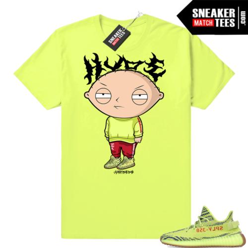 Frozen yellow yeezy sneaker tee shirt