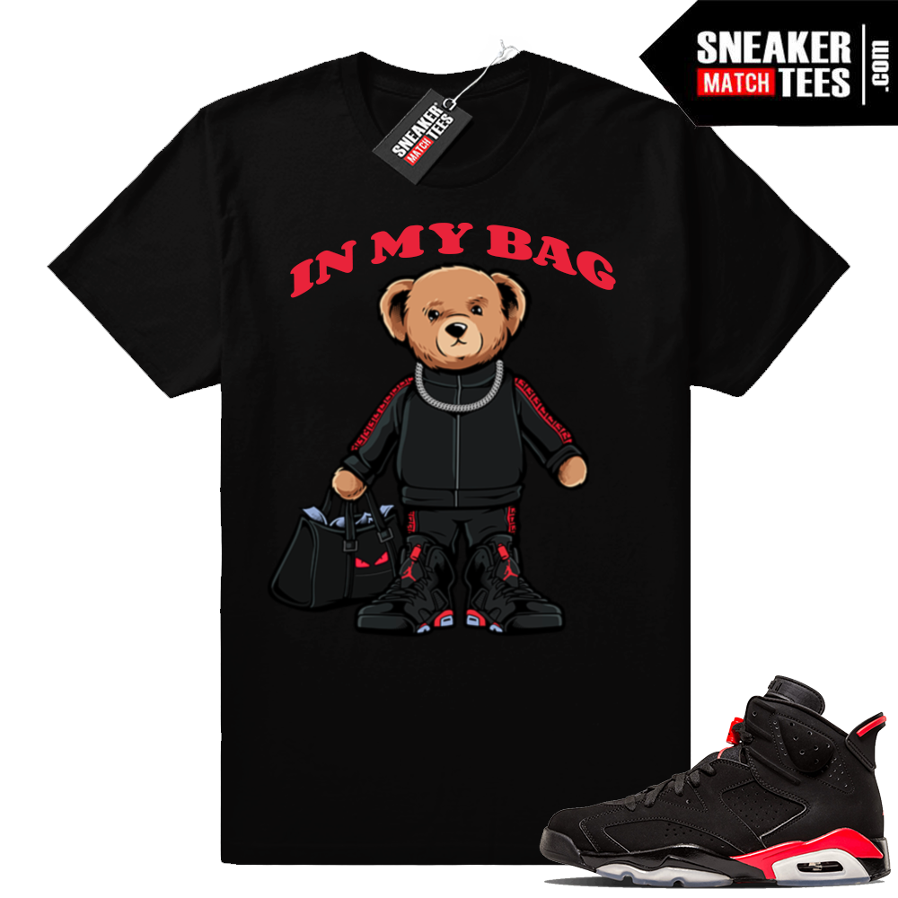 In my Bag shirt Infrared 6s