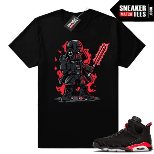 Infrared 6s Black sneaker tee shirt