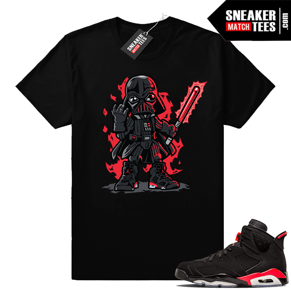 Infrared 6s Black sneaker tee shirt