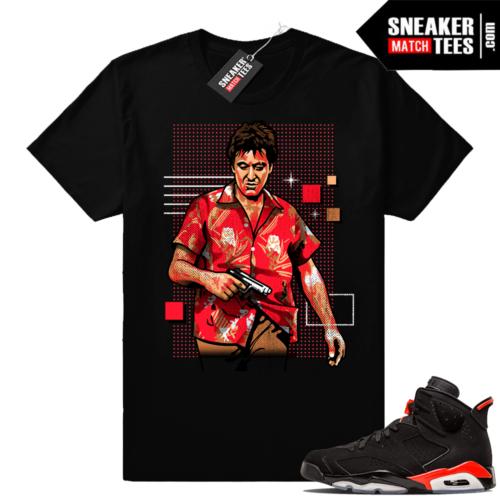 Infrared 6s sneaker tee shirt match