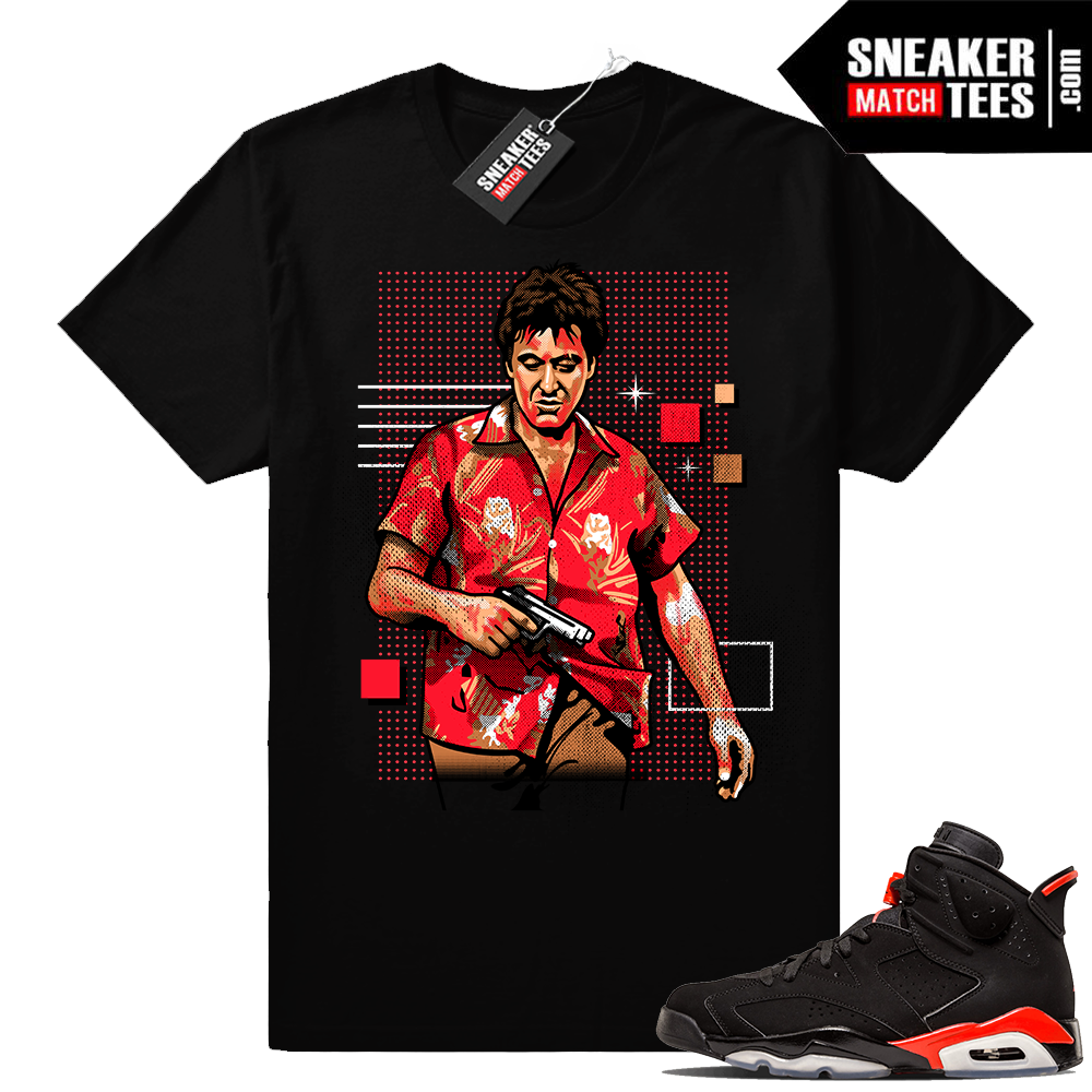 Infrared 6s sneaker tee shirt match