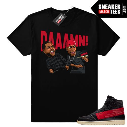 Jordan 1 Couture DAAAMN shirt