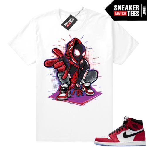 Jordan 1 Spider man into the verse tee