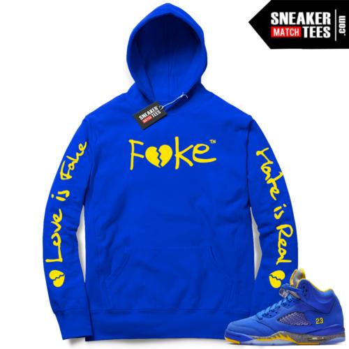 Jordan 5 Laney Fake Love Logo Hoodie