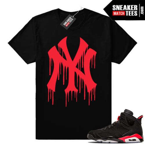 Jordan 6 Black Infrared matching shirts