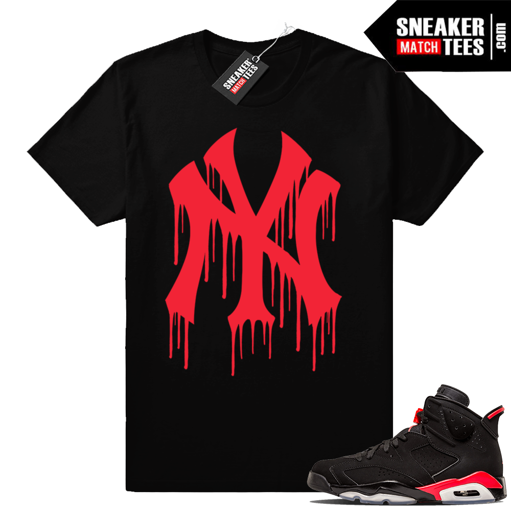 Jordan 6 Black Infrared matching shirts