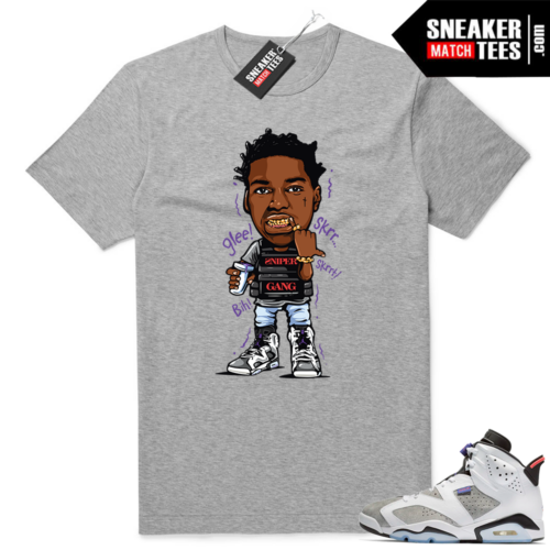 Jordan 6 Flint grey shirt