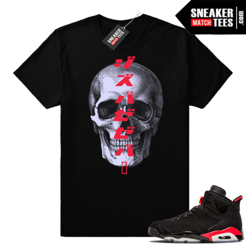 Jordan 6 Infrared Black tees