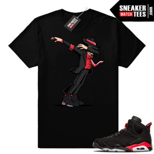 Jordan 6 Infrared MJ Dab t-shirt