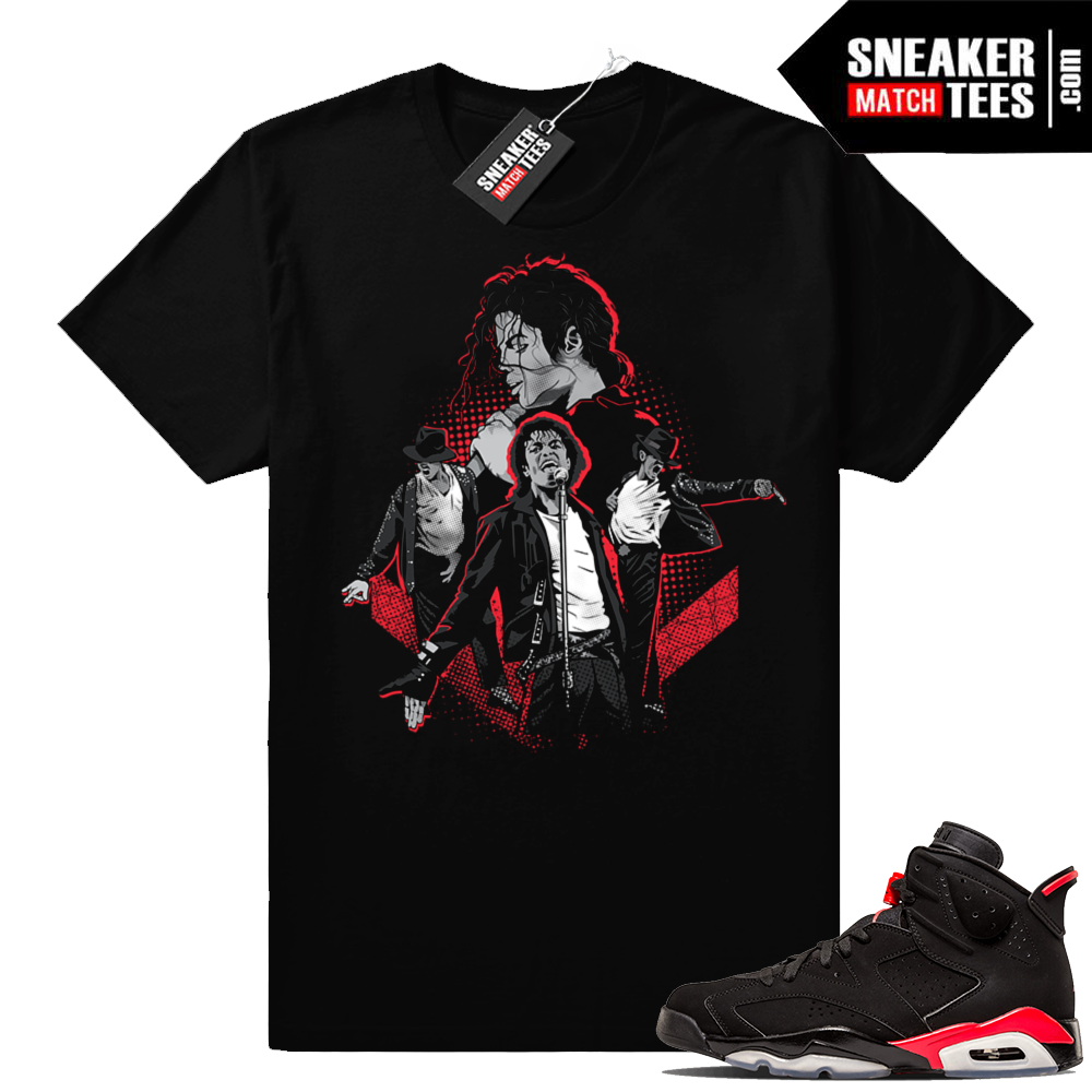 Jordan 6 Infrared Michael Jackson Tribute shirt