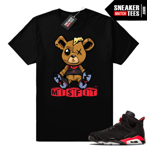 Jordan 6 Infrared black t-shirts