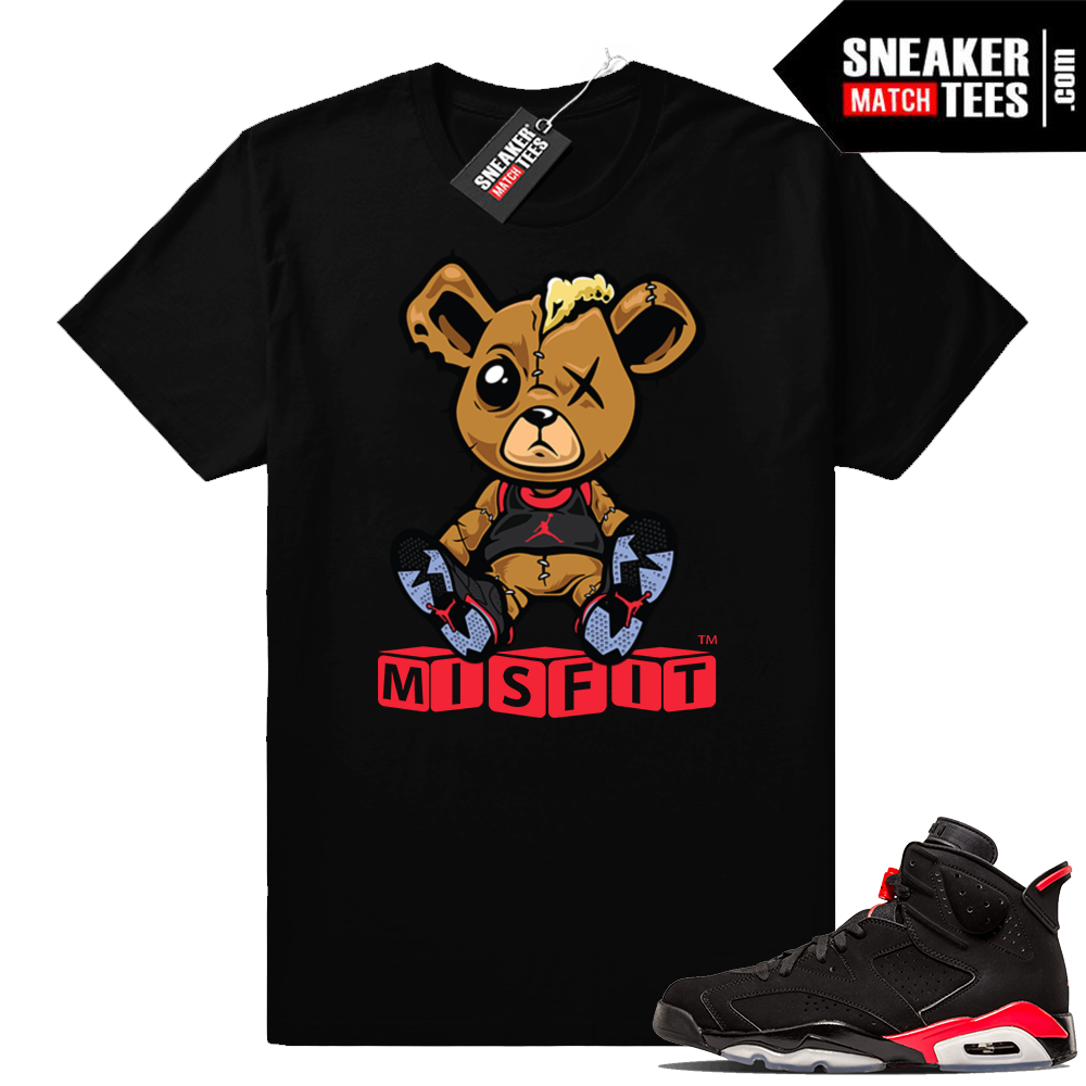 Jordan 6 Infrared black t-shirts