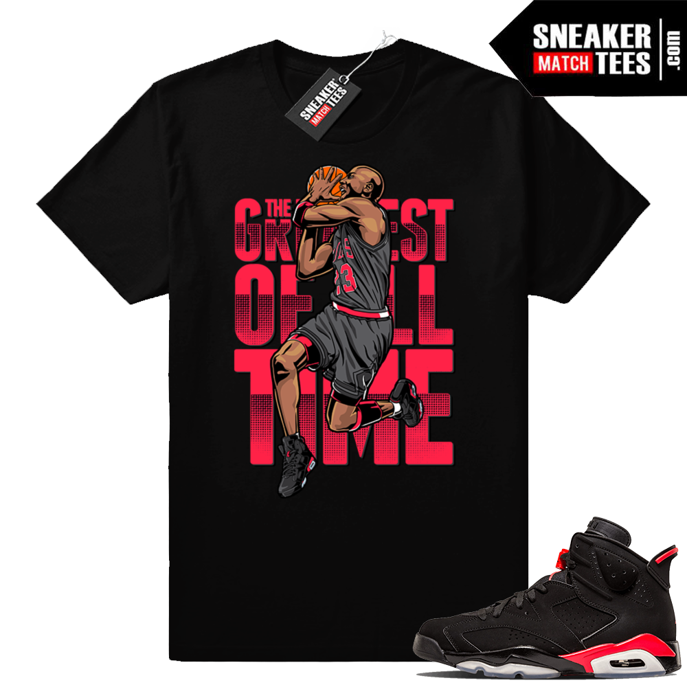 Jordan 6 Infrared matching sneaker shirt