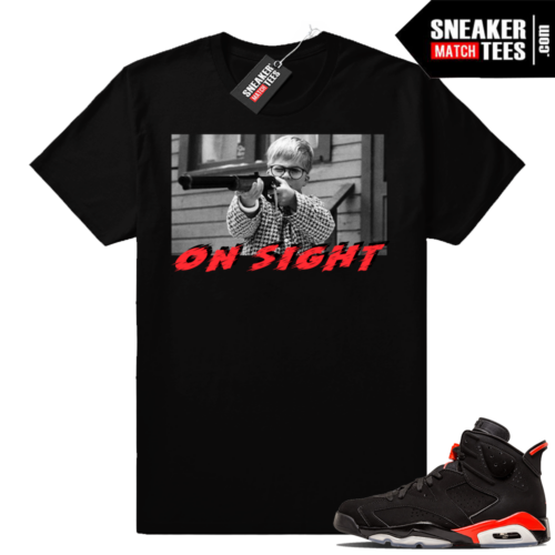Jordan 6 Infrared sneaker tee shirt clothing