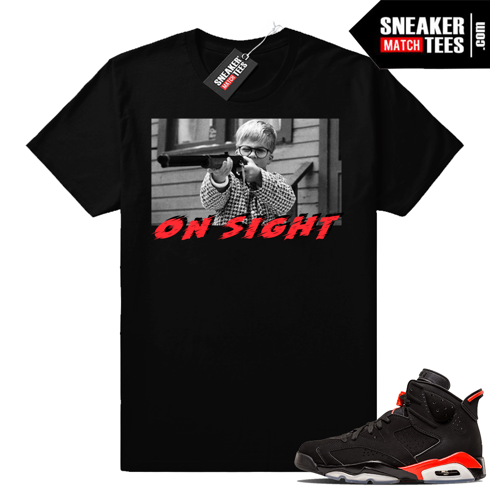 Jordan 6 Infrared sneaker tee shirt clothing