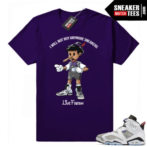 Jordan 6 flint grey sneaker tee shirts