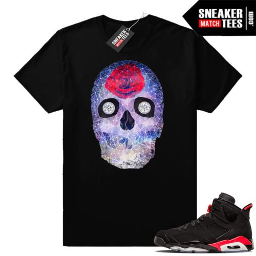 Jordan 6 infrared Crystal Skull t shirt
