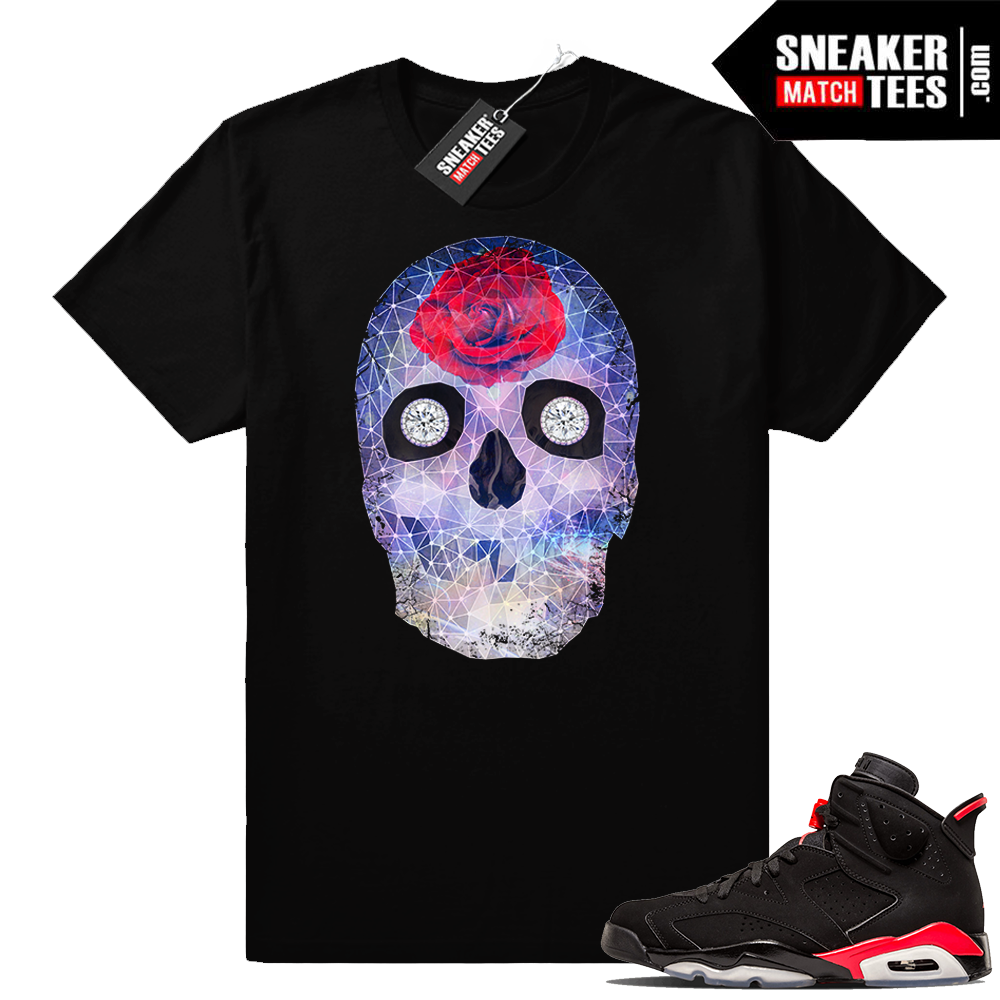 Jordan 6 infrared Crystal Skull t shirt