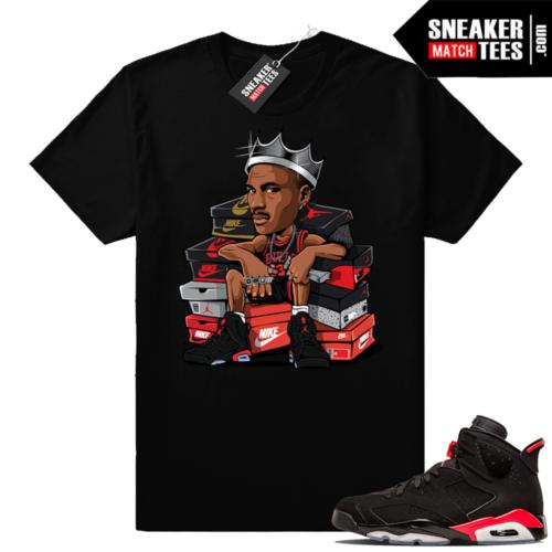 Jordan 6 infrared MJ king t-shirt
