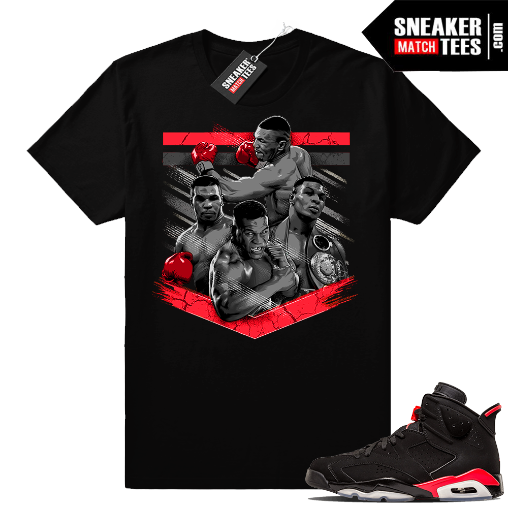 Jordan 6 infrared Mike Tyson Tribute tee