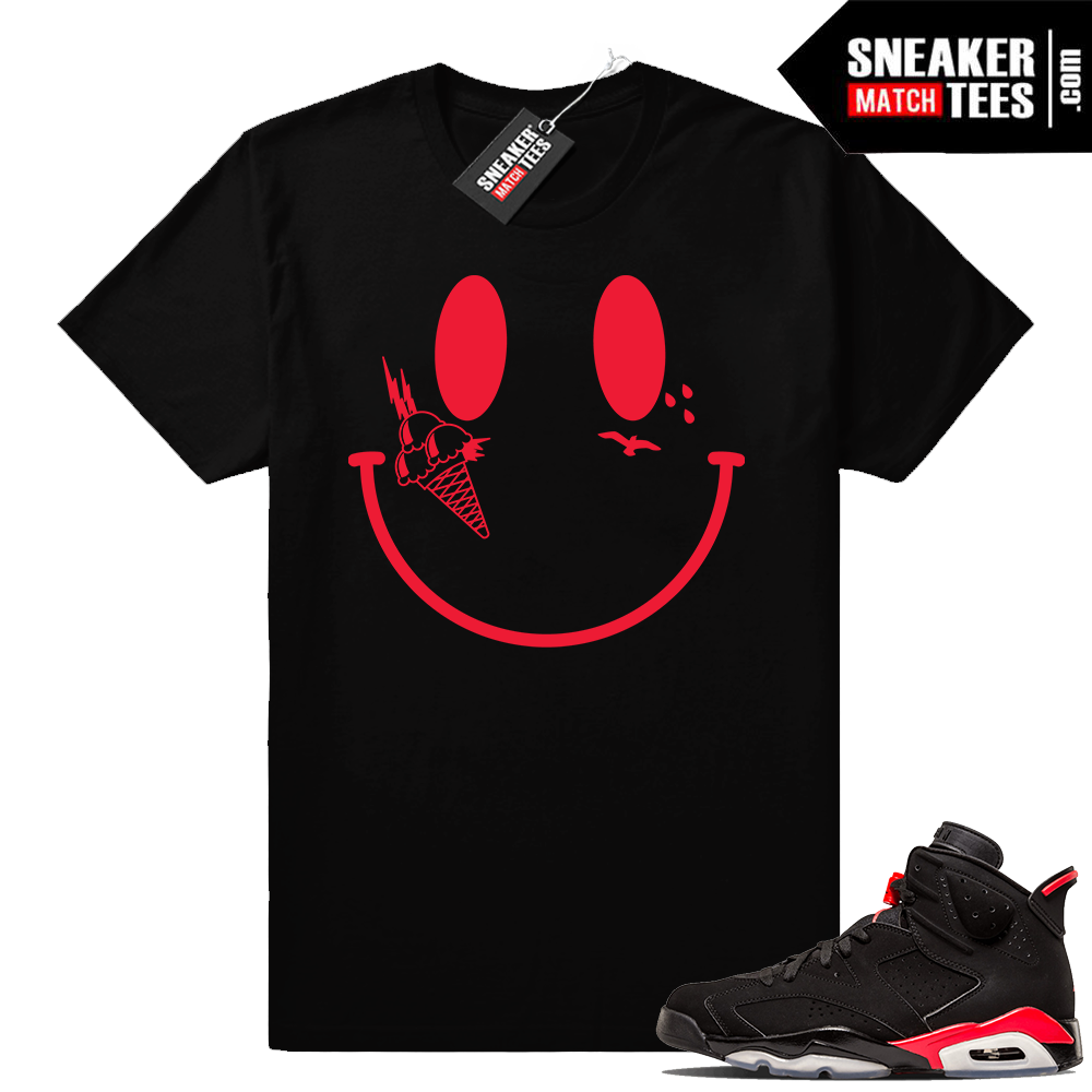 Jordan 6 infrared sneaker tees Gucci mane smiley