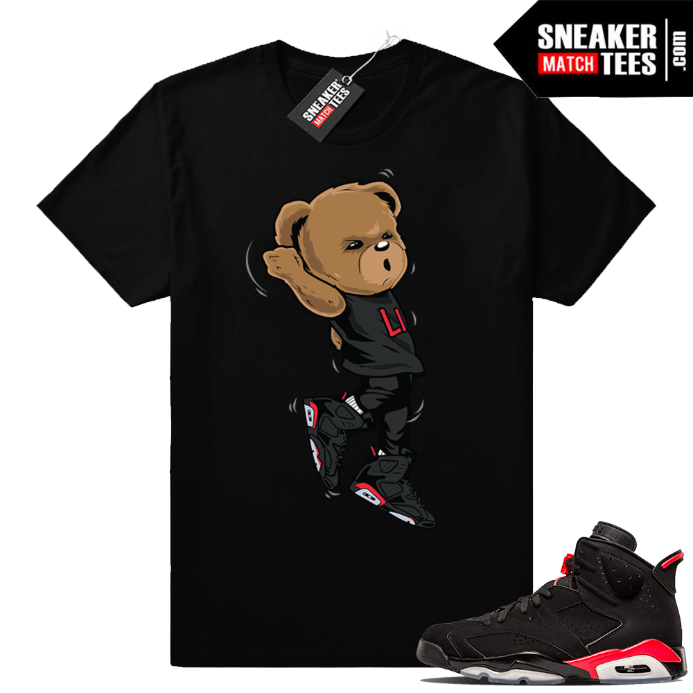 Jordan 6s Shootin Bear Black infrared