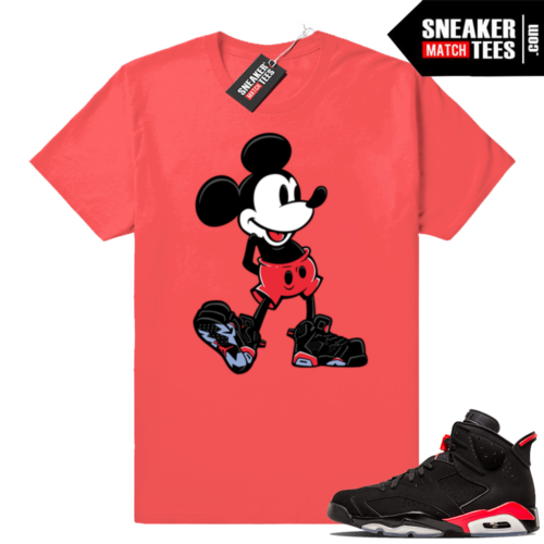 Jordan 6s matching Sneakerhead Mickey