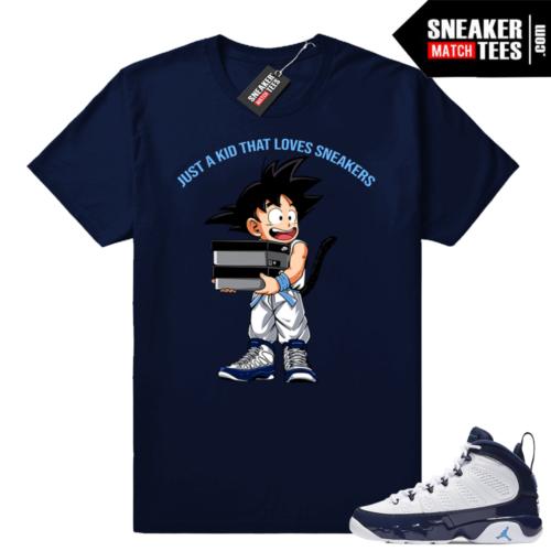 Jordan 9 UNC Just a Kid shirt