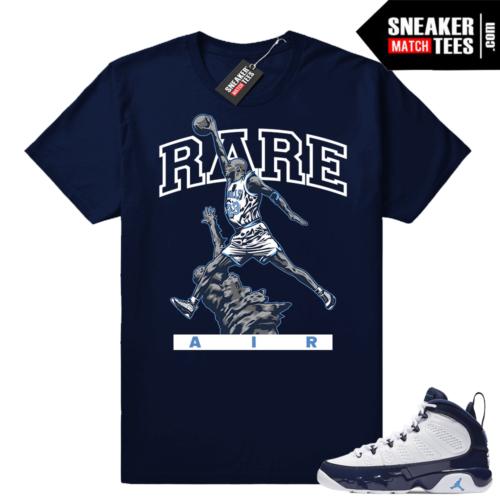 Jordan 9 UNC MJ Statue shirt