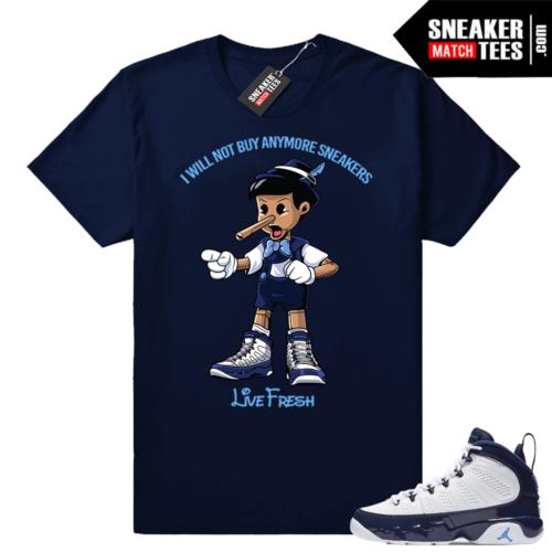 Jordan 9 UNC Sneakerhead pinocchio