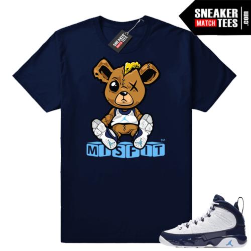 Jordan 9 UNC shirts match