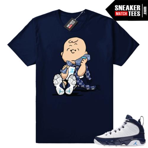Jordan 9 UNC tee shirts