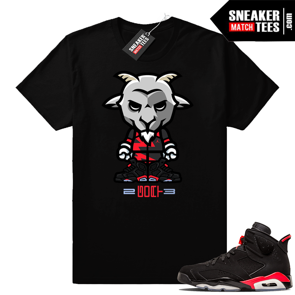 Jordan shirts infrared 6s Black