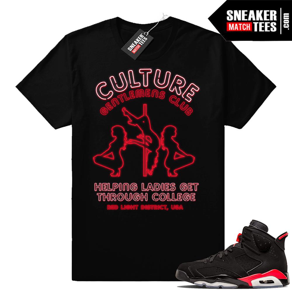 Sneaker tees Jordan 6 infrared
