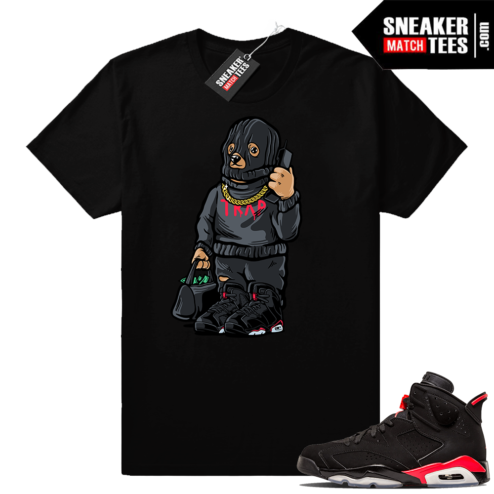 Sneaker tees match Jordan 6 infrared