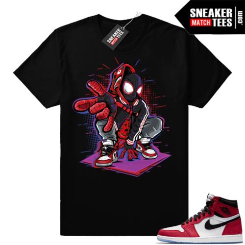 Spiderman 1s matching sneaker tees
