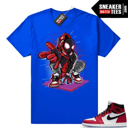 Spiderman t-shirt Jordan 1s