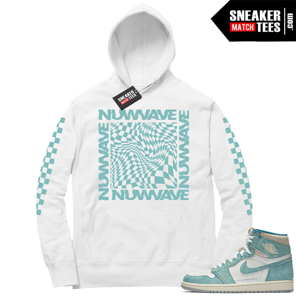 Turbo Green 1s Nuwave Checkered Hoodie