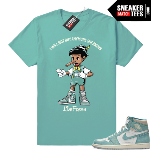 Turbo Green 1s matching sneaker tees