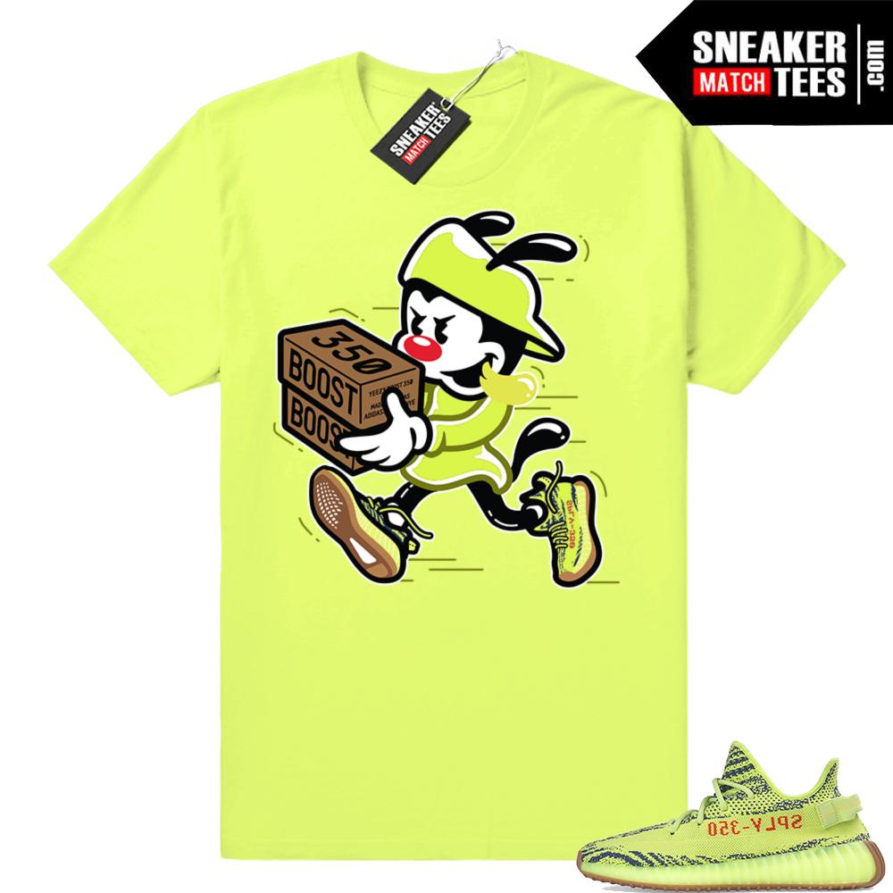 Yeezy Frozen Yellow Double Up sneaker tee