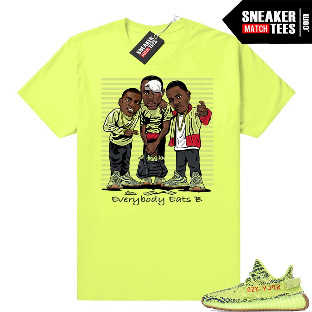 Yeezy Frozen Yellow Sneaker tees
