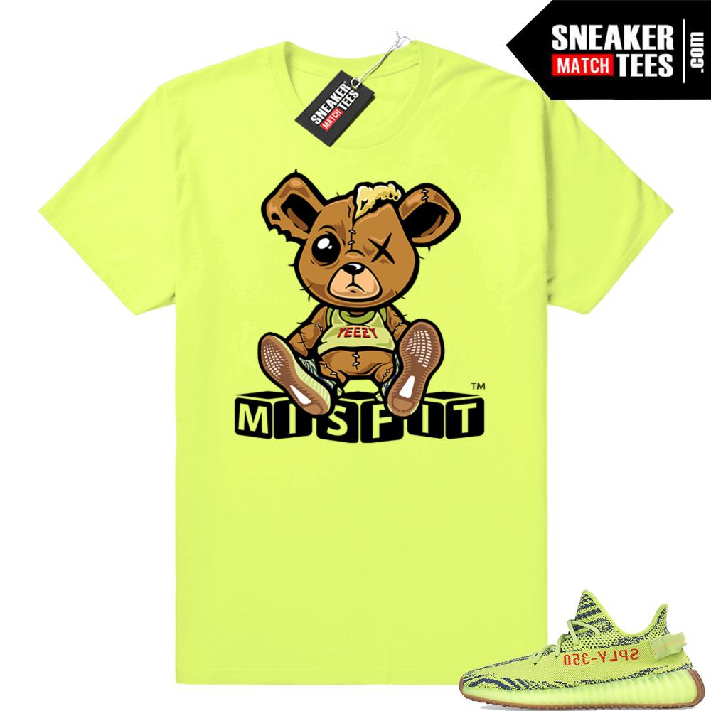 Yeezy Frozen yellow sneaker tees match