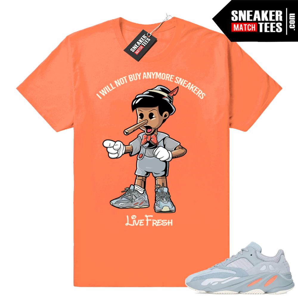 Yeezy sneaker shirts match Inertia 700