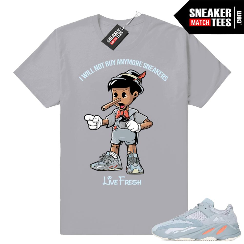 Yeezy sneaker tees matching Inertia 700
