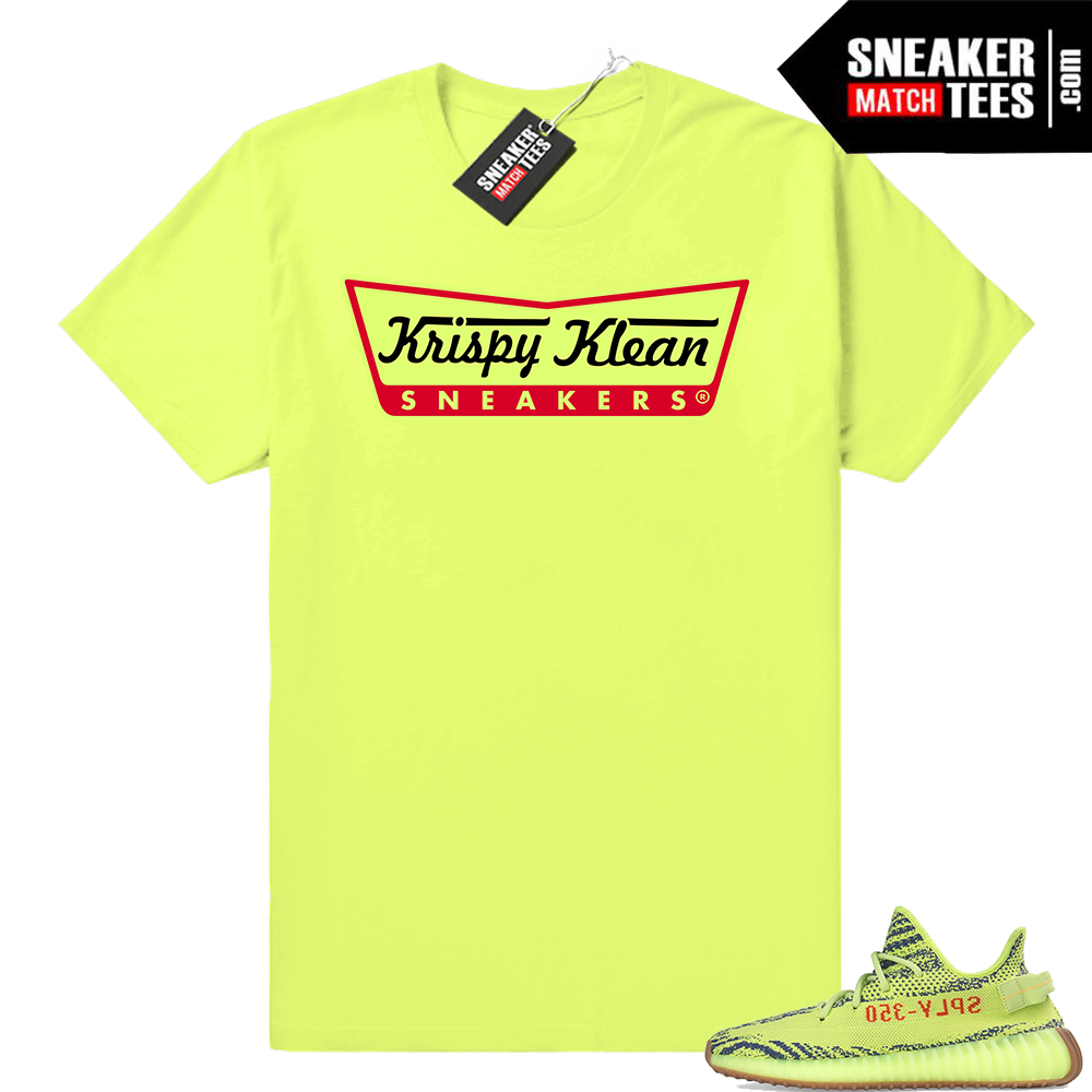 Yeezys shirts frozen yellow