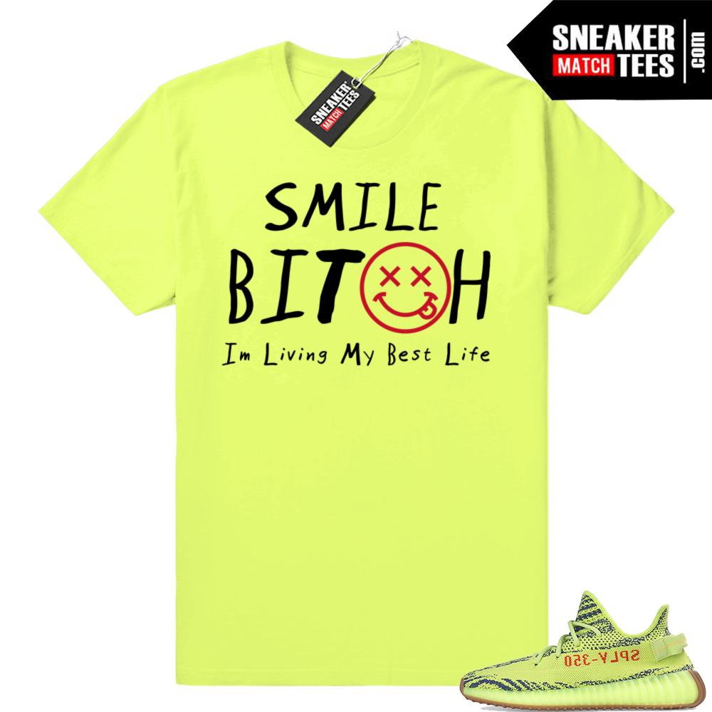 Yeezys sneaker tee shirts Frozen yellow